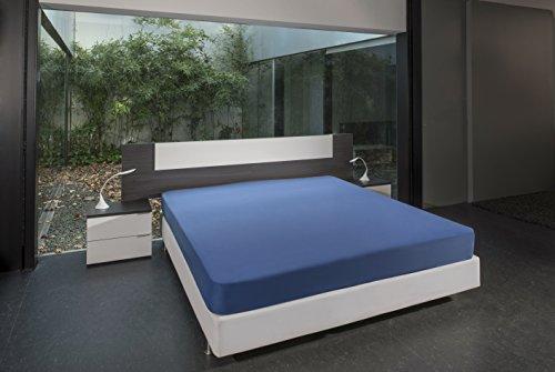 Bsensible Tencel Drap housse protecteur pour lit articulé au tête Bleu azur 90+90 x 200