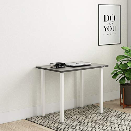SOS Spacewood LiteOffice Oryx Desk Home and Office Table (Slate Grey & Frosty White)