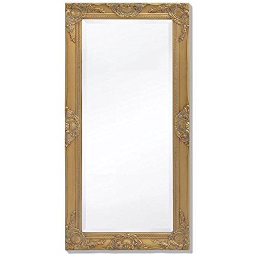 Tidyard Miroir Mural Magnifique pour Salle de Bain/Dressing Style Baroque Doré 100 X 50 cm