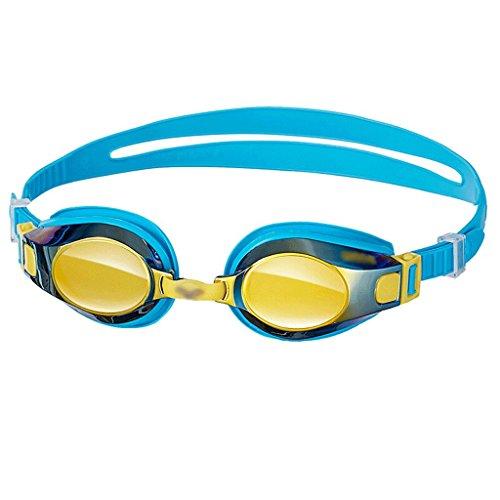Liutao Gafas Gafas de natación para niños, Gafas Impermeables y de Ocio recubiertas HD Durable Gafas (Color : Blue)