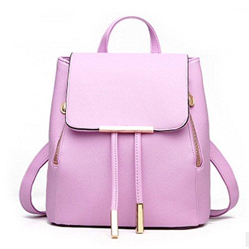 Naerde, Borsa a zainetto donna, Light Purple,