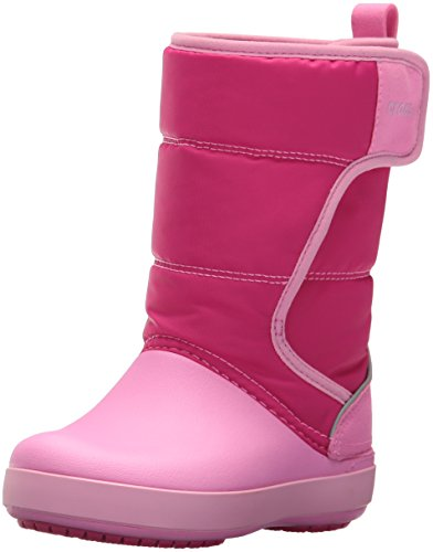 Crocs LodgePoint Snow Boot Kids, Botas de Nieve Unisex Niños, Rosa (Candy Pink/Party Pink), 38/39 EU