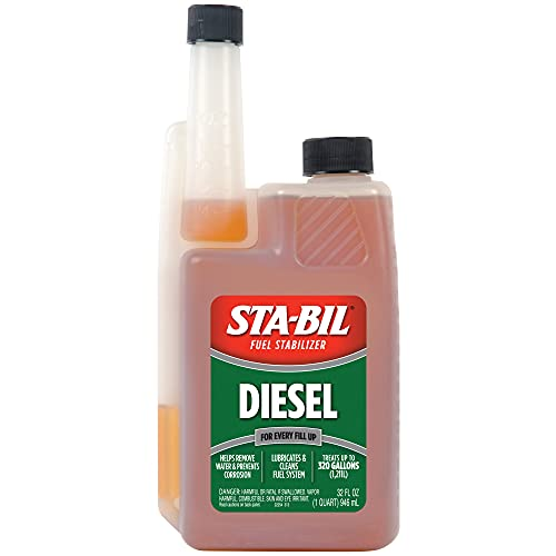 STA-BIL (22254) Diesel Fuel Stabilizer And Performance Improver - Keeps Diesel Fuel Fresh For Up To 12 Months - Lubricates And Cleans The Fuel System - Treats 320 Gallons, 32 fl. oz. , Orange