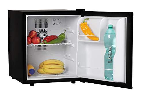 AMSTYLE Mini Kühlschrank 46 Liter Kleiner Kühlschrank Schwarz 44x51x48cm 5-15°C | Getränkekühlschrank ohne Gefrierfach | Minibar Minikühlschrank freistehend | Flaschenkühlschrank für Zimmer | EEK: A+