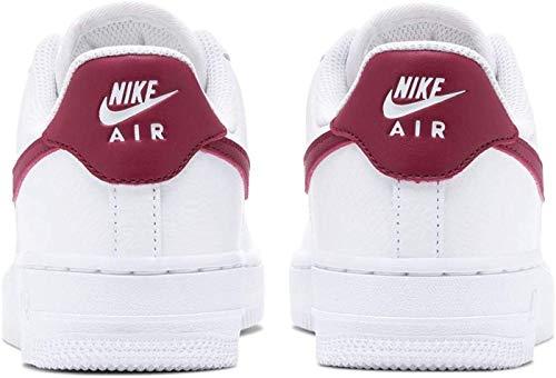 Nike Damen WMNS AIR Force 1 '07 Basketball Shoe, White/Noble Red-White-White, 43 EU
