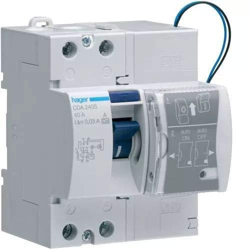 Hager - mod. A–Interruttore differenziale con riconnessione automatica, a 2poli, intensità: 40A, Sensibilità: 30mA