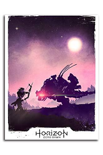 Horizon Zero Dawn Büro-Wanddekoration, Kunstwerk, 61 x 91,4 cm, Videospiel-Poster Aloy Kunstdrucke, schickes Büro, ungerahmt / rahmenbar