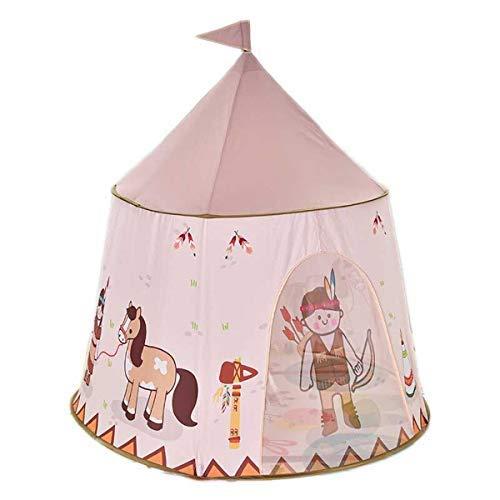 HB.YE Spielzelt Kinder Kinderzelt Spielhaus Baby Spielschloss Prinzessin Princess drinnen draußen Kinderzimmer Indianer Deko 123*116* 116cm (Pferd)