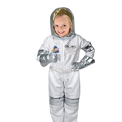 Riosupply Disfraz de Astronauta para nios, Juego de Ropa de Disfraz, Ropa de Juego  Tops, Pantalones, Guantes, Casco para nios y nias, Regalo de cumpleaos, 3  7 aos
