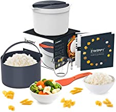 Zwippy Microwave Rice and Pasta Cooker - Easy Cooking or Reheating Set with Rice Spoon & Measuring Cup - All-in-One Microwaveable Container for Vegetables, Oatmeal, & Soups - Dishwasher Safe