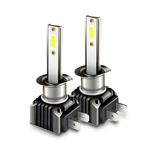 H4 Faros Delanteros Bombillas LED 36 W 6000LM 6000K Super Brillante Lámpara de Luces Blancas para Coches, Vehículos, IP68 Impermeable (2 Piezas)