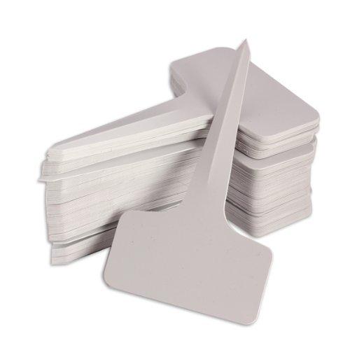 Ma-on 100 pcs Plante Chambre d'enfant en plastique type T Tags marqueurs étiquettes de jardin (Blanc)