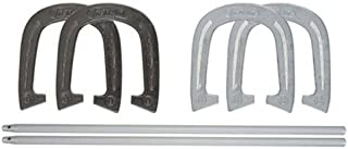 Franklin Sports Horseshoe Set - Steel Horseshoes and Stakes - Official Size and Weight - Perfect for Yard and Beach - Advanced
