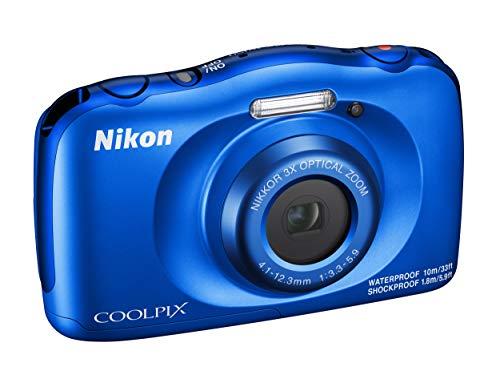 """Nikon Coolpix W150 Fotocamera Digitale Compatta, 13.2 Megapixel, LCD 3"""", Full HD, Impermeabile, Resistente agli Urti, alle Basse Temperature e alla Polvere, Blu [Nital Card: 4 Anni di Garanzia]"""