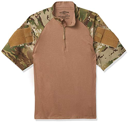 Tru-Spec T-Shirt de Combat à Manches Courtes pour Homme Multicam/Coyote Taille S/Normale
