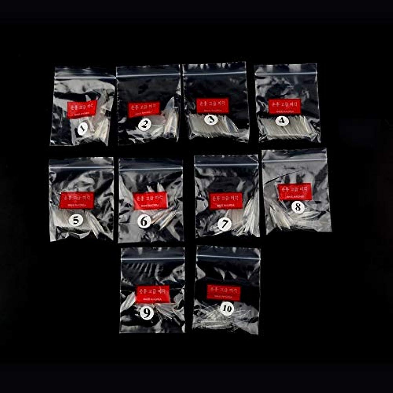 悲観的羽聴覚AAcreatspace 500ピース女性女の子透明ナチュラルホワイトポイントスティレットフレンチアクリルUVジェル偽ネイルのヒントアート装飾ツール