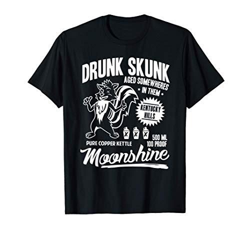 Betrunkenes Stinktier Kentucky Hills Moonshine T-Shirt