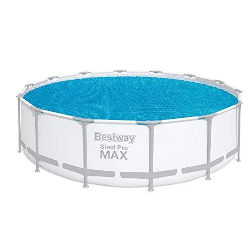 Flowclear Solarabdeckplane Ø 417 cm, für runde 457 cm Fast Set Pools, 427 cm Steel Pro Max, Power Steel, 369 cm Steel Pro und Power Steel Pools, blau