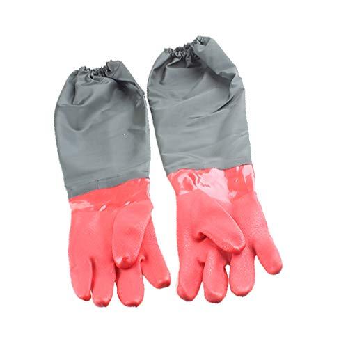emours Aquarium-Handschuhe, wasserdicht, Ellbogenlänge, Lange Ärmel, Kratzfest, 68,6 cm