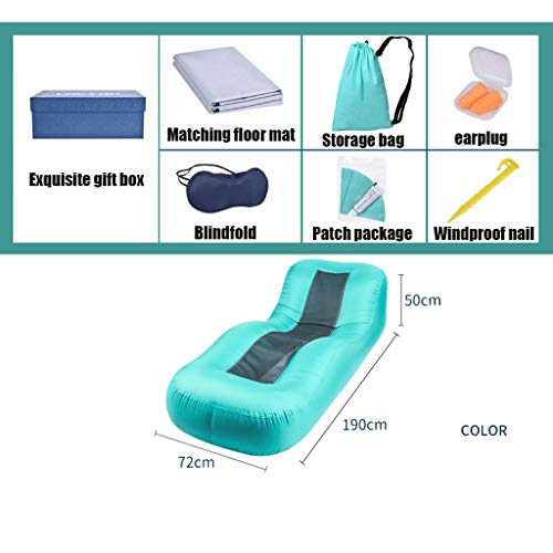 Opblaasbare Recliner Opblaasbare Bed Outdoor Camping Opvouwbare Portable Recliner Lazy Sofa Air Single Air Cushion Bed (Color : A)