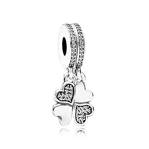 LILANG Pandora 925 Pulsera de joyería Cuentas de Plata esterlina Real Natural Best Friends Forever Colgante Charm Fit Fashion Pan Bangle Adecuado para Mujeres Regalo de Bricolaje