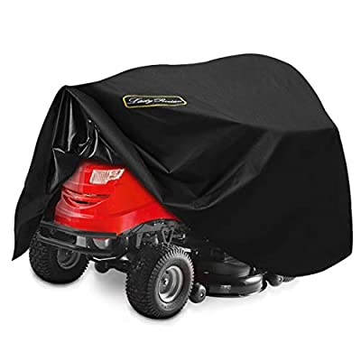 """LadyRosian Lawn Mower Cover, Lawn Tractor Cover, 100% Waterproof 600D Heavy Duty Oxford UV Protection Riding Lawn Mower Cover Fits Decks up to 54"""""""