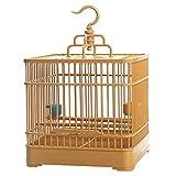 XYSQWZ Jaula de pájaros de plástico de Calidad Jaula de pájaros Creativa Loro Canario Jaula de pájaros Suministros para Mascotas Jaula de pájaros pequeña