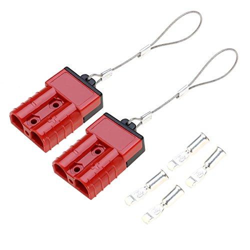 WINOMO Akku Quick Connect Trennen Sie den elektrischen Stecker 2-4 Gauge 50 Amps für Recovery Winch oder Trailer
