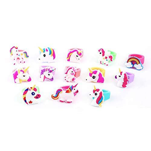 Emorias 12Pcs Anillo de Mujer Unicornio Aleación Compromiso Joyería Regalos para Amor Anillos Hombre Boda Bisuteria