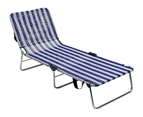 Alco-1060ALF-0056 Cama Aluminio sin muelles fibreline, Color Rayas Azules y Blancas, 68x68x17 cm (1-1060)