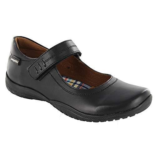 COQUETA Zapatos Escolares para Niña Diseño De Punta Cuadrada Y Ajuste En Velcro 19