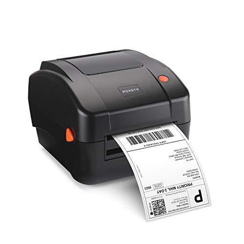 【300 DPI Bessere Druckqualität】 MUNBYN DHL Etikettendrucker Direkter Thermischer Versandetikettendrucker Label Drucker Printer für DHL DPD UPS FedEx Amazon 4XL Etikettendrucker PC/Mac