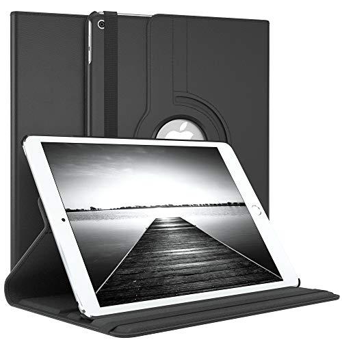 EAZY CASE Tablet Hülle kompatibel mit Apple iPad Air 2, 360° Standfunktion I Schutzhülle mit Sleep & Wake Funktion I Tablethülle, Case aus Kunstleder, Schwarz