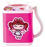 Markest Kids Toy Lavatrice Mini Automatic Powder Puff Washer Electric Brush Brush Cleaner Simulato famiglia finta Gioca Dollhouse Washer Cute Spinner Machine(rose girl)