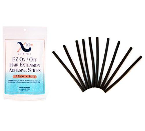 The Hair Shop - Extensión de pelo con varillas de queratina para extensiones de pistola de pegamento, Negro