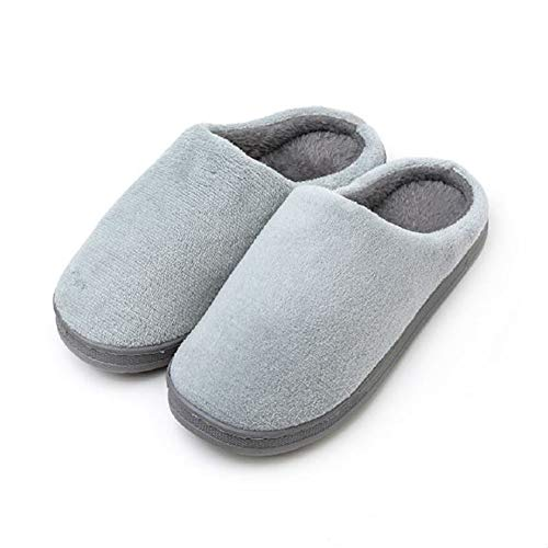 Women's Coral Velvet Slippers Winter Slippers Home Shoes Soft and Comfortable Non-Slip Japanese Simple Style (7.5/8 US,Gray)