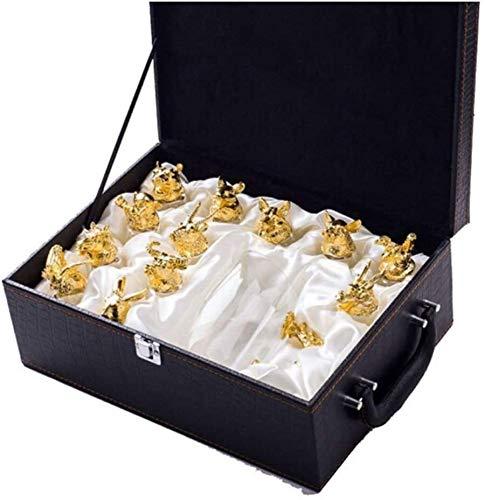 Rouge Verre à vin 12 Piece Set Mini whisky Distributeur de 12 verres à vin, Grande Bouteilles en verre sans plomb boîte-cadeau, Verrerie, for tout whisky Passionné