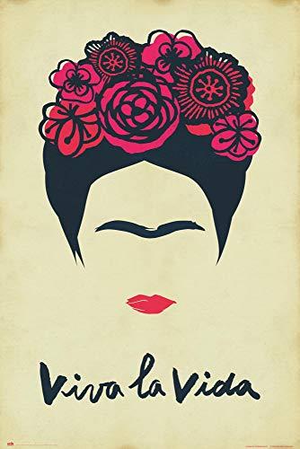 Close Up Poster Frida Kahlo - Viva La Vida (61cm x 91,5cm)