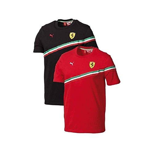 FERRARI Camiseta Hombre Bandera Rojo Talla M
