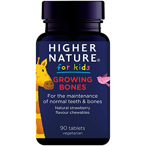 Higher Nature Kids Growing Bones Tablets - Pack of 90