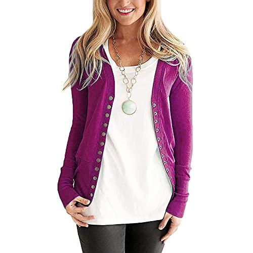 AEftrior Langarmshirt Damen Oberteile Solid Warm Strickjacke Frau Mode Oversize Pullover Bluse Causal Lose Sweatshirt Outdoor Sweatjacke S-L2