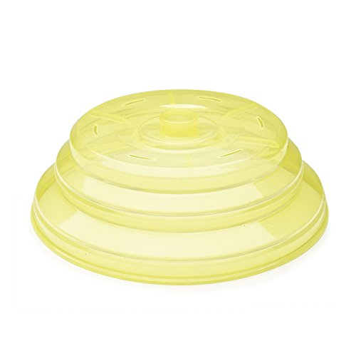 IBILI 798500 Tapa Plegable para microondas de Silicona, Color Amarillo (26x 26x 3cm)