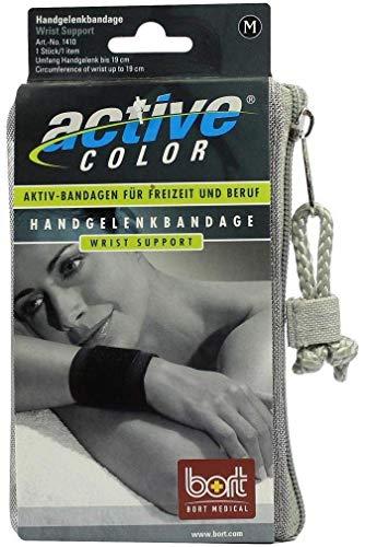 BORT ActiveColor Handgelenkbandage M schwarz 1 St