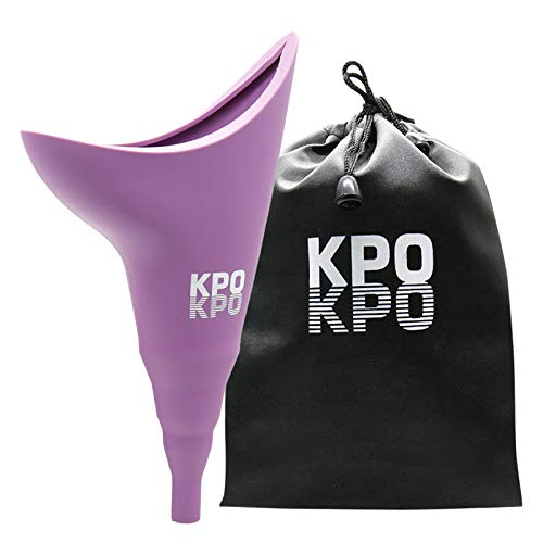 KPOKPO Female Urinal, Female Urination Device, Reusable Silicone Female Urinal, Portable Urinal Allows Women to Pee Standing Up, Pee Funnel for Outdoor, Inconvenient Mobility, Activities, Campin