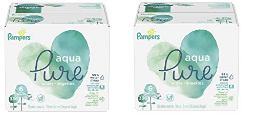 Price comparison product image Pampers Aqua Pure 6X Pop-Top Sensitive Water Baby Wipes,  672 Count
