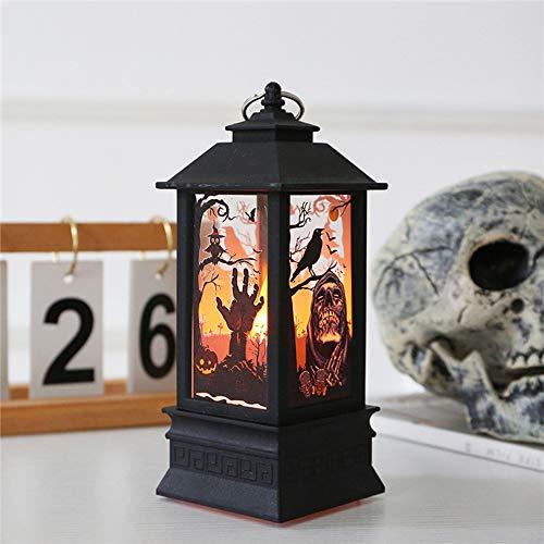 Wankd nachtlampje, hangende lamp, Halloween hanglamp met LED-kaars voor kamer buiten Kerstmis Halloween Party Park Deco