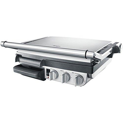 SAGE SGR800 the BBQ Grill mit anpassbarer Neigung, Gebürstetes Edelstahl, 2400 Watt