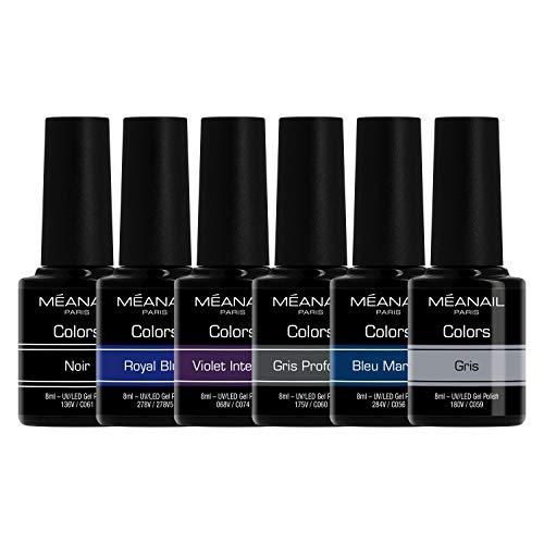 Set de Esmaltes de Uñas Gel UV LED 6 Colores Esmaltes Semipermanente Laca Soak Off Gel Nail Polish Collection Blue Monday Ideal Manicura y Pedicura