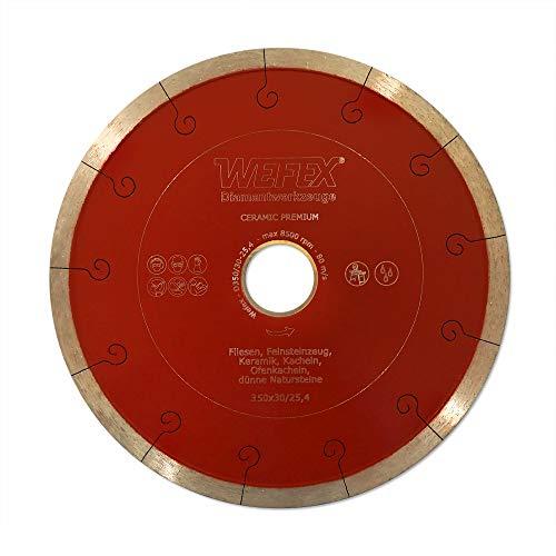 WEFEX Diamant-Trennscheibe Keramik-Premium 350 x 30/25,4 mm Kacheln Feinsteinzeug Keramik Fliesen