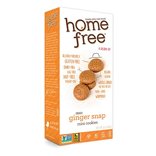 Homefree Treats You Can Trust Gluten Free Mini Cookies, Ginger Snaps, 5 Ounce